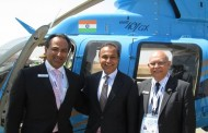 Mr. Anil Ambani,  receives demonstration flight in the Bell 407GX