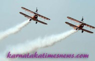 Erobatic stunts &  Aero Exhibitors  in  Aero India 2015 Bengaluru
