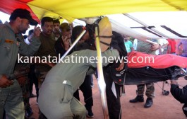 Indian Army's  Powered Hang glider collapsed in Mangaluru