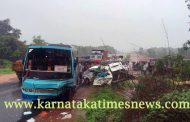 Eight school children killed in bus-van collision in Kundapur