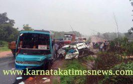 Eight school children killed in bus-van collision in Kundapur