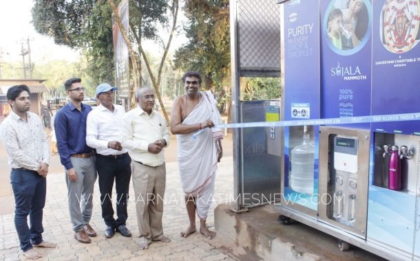 Sanjeevani Charitable trust and S K F ELIXER installs 5 water purifiers in Kateel Shri Durgaparameshwari temple premises.